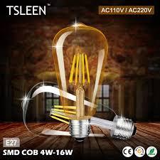 Giá Rẻ Đèn LED Edison 220V E27 ST64 Đèn LED Dây Tóc Đèn 110V Edison Bóng Đèn  Retro Kính Retro Nến Chiếu Sáng vàng 4W 8W 12W 16W|led filament light