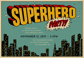 superheroes party invites superhero party invitations greenvelope com
