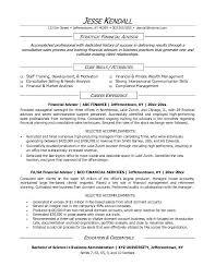 ... Skill resume, Jk Financial Advisor Financial Advisor Resume Sample  Financial Planning Summary Letter: Financial ...