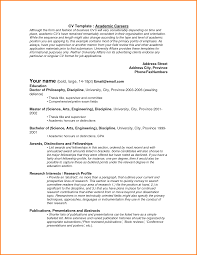6 Academic Curriculum Vitae Sample Actionplan Templated