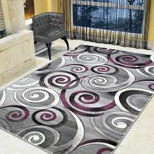 spiral swirls modern contemporary hand carved area rug silver purple gray