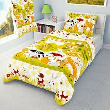 details about forest animals bedding set duvet covers for cot cot bed toddler 100 cotton
