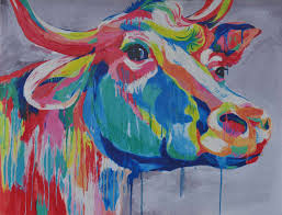 on two cows canvas wall art with big ed canvas print