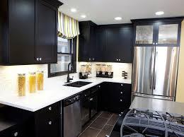 kitchen smart black kitchen cabinet design with lighted white countertop black kitchen cabinet ideas