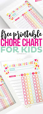 Chore Charts For Kids Keep Kids On Track Using My Free Printable
