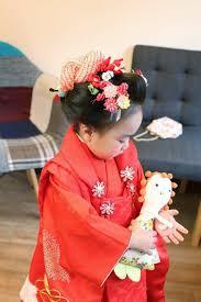 三歳さんの七五三は新日本髪で