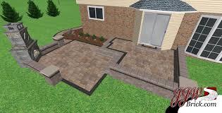 brick paver patio fireplace design