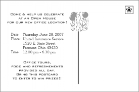 Open House Invitation Wording For Business Arts Arts