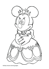Princess Minnie Mouse Coloring Pages Princess Mouse Coloring Page