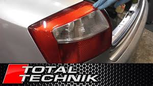 How To Remove Rear Light Tail Light Audi A4 S4 B6 2000 2005 Total Technik