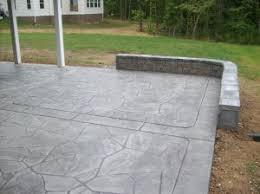 stamped concrete patio. Stamped Concrete Patio With Seat Wall
