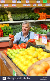 Produce Manager Produce Manager Of Grocery Store Stock Photo 23369534 Alamy