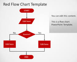 simple red flowchart powerpoint templatesimple flow chart ppt template   red style