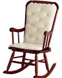 wooden rocking chair with cushion. Delighful Rocking Amazoncom  Baby Doll Bedding Heavenly Soft Adult Rocking Chair Cushion  Pad Set With Newly Updated Thicker Seat CushionChar Not Included For Wooden With S