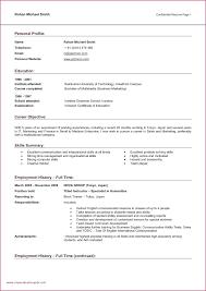 Resume Example Objective For Resume Fresh Cover Letter