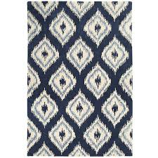 navy ikat with light blue gray cream by stout swelter swel  fabric