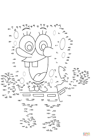 Small Picture Spongebob dot to dot Free Printable Coloring Pages