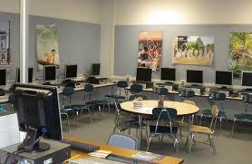 Cool And Modern Computer Room Decor Ideas  Futuristic White School Computer Room Design