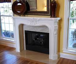 cast stone fireplace mantel faux travertine finish