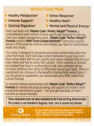 garden of life vitamin code perfect weight. Vitamin Code® - Perfect Weight Multi 240 Vegetarian Capsules Garden Of Life Code M