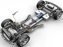 electric car motor. The Electric Motor And Range Extender Are Up Front Car