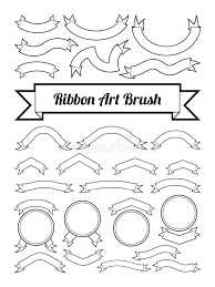 Blank Boxes To Decorate Black And White Ribbon Art Brush Text Box Template Blank Logo 27
