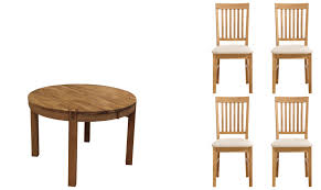 royal oak round extending dining table sets fishpools elmdon circular and 4 cream chair