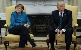 recapturing oval office. US President Donald Trump Meets With German Chancellor Angela Merkel In The Oval  Office Of Recapturing Oval Office