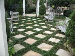 mondo grass and pavers patio
