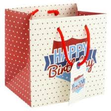 small happy birthday gift bag gents mens dad grandad father daddy 15x15x12cm on on