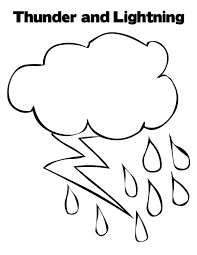 Small Picture Bad Weather with Lighting Bolt Coloring Page Color Luna