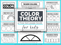 Check out these free printable coloring pages for adults! Color Theory For Kids A Free Printable Book The Kitchen Table Classroom