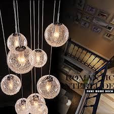 glass ball lighting. Modern Large LED Chandeliers Stair Long Globe Glass Ball Ceiling Lamp With 10 Balls Light Fitting Fixture Avize Home Lighting-in From Lights Lighting D