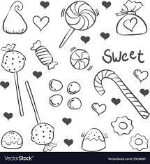 Art Doodle Various Candy Sketch Of Doodle Art
