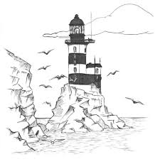 Small Picture Lighthouse Coloring Pages Lighthouse Coloring Pages For Adults