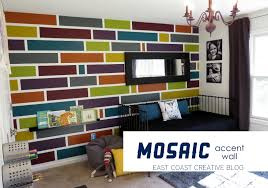 Living Room Accent Wall Paint How To Paint A Mosaic Accent Wall Bedroom Makeover East Coast