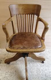 vintage oak swivel desk captains chair antique gany swivel desk chair