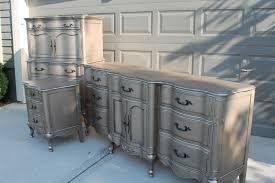 silver painted furniture. Painted French Provincial Triple Dresser | Provincial, Paint Furniture And Silver