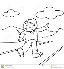 Small Picture Walking On The Road Coloring Page Stock Illustration Image 86598325