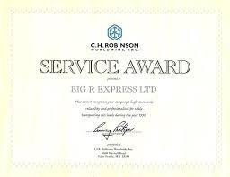 Service Award Certificate Templates – Gocollab