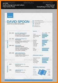Single Page Resume Template Best One Page Resume Template JmckellCom