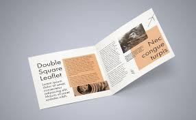 2 Folded Brochure Template Free Square Bi Fold Brochure Mockup Psd File 2 Bi Fold