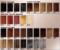 Hand Picked Hair Extension Color Number Chart Love Hair
