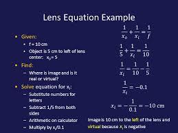 13 lens equation