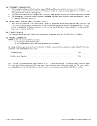Basic Lease Agreement Free Lease Agreement Ezlandlordforms