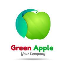apple logo vector. green apple logo design vector