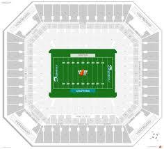 Hard Rock Stadium Seating Chart Hurricanes Symbolic Miami Dolphins Interactive Seating Chart 2019