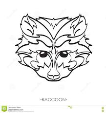 стилизованный енот иллюстрация вектора енота эскиз енота для