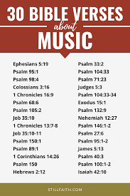 Music is vocal or instrumental. 243 Bible Verses About Music Kjv Stillfaith