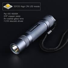 Flash Light S2 Convoy S2 Nichia 219c 4000k 5700k 7135 4 1400mah Driver 12 Groups Mode 18650 Led Flashlight Smooth Reflector 18650 Battery Portable Torch